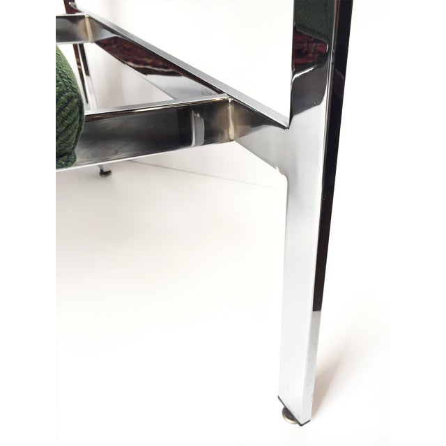 1960s Flat-Bar Chrome Club Chairs by Milo Baughman for Thayer Coggin - a Pair For Sale - Image 11 of 14