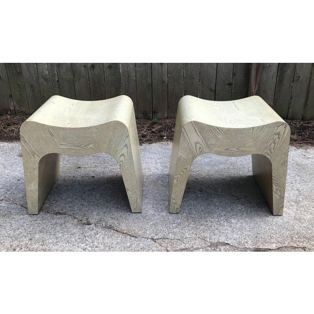 1980s Curvilinear 1980s Stools — a Pair For Sale - Image 5 of 11
