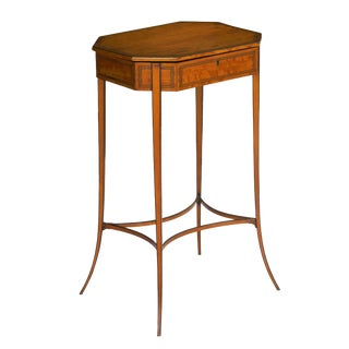 Circa 1800 English Regency Satinwood Antique Side Table For Sale