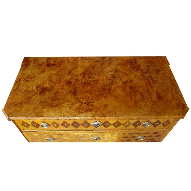 Gustavian (Swedish) A Handsome Swedish Gustavian Alder Root Parquetry Chest For Sale - Image 3 of 7