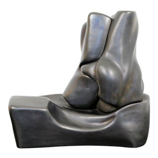 Contemporary Signed Abstract Table Sculpture F. Calderon 1991 10/50