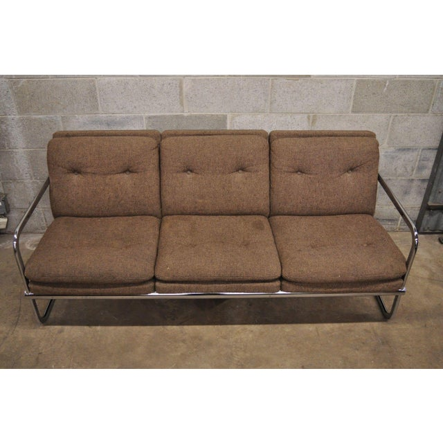 Mid-Century Modern Milo Baughman Style Sofa by United Chair For Sale - Image 3 of 12