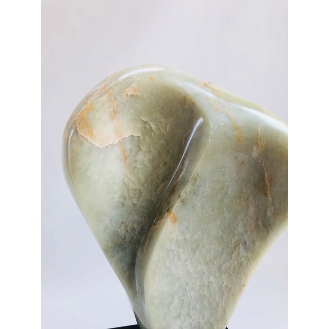 Abstract Expressionism Noguchi Inspired Mid-Century Modern Abstract Biomorphic Marble Sculpture For Sale - Image 3 of 12