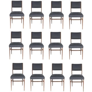 Set of 12 Maze Walnut Dining Chairs For Sale
