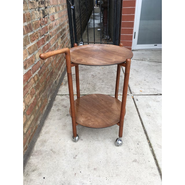 Danish Modern 1960s Danish Modern Teak Serving Trolley With Removable Trays For Sale - Image 3 of 5