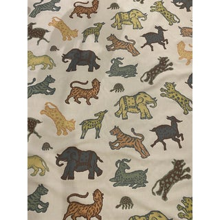 Old World Weaver's Leonard II Graphic Animal Print Fabric - 5 Yard Piece For Sale