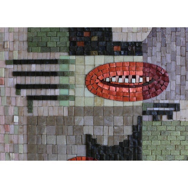 Arts & Crafts Glass Mosaic Relief Panel by Phyllis Wallen, 1950s For Sale - Image 3 of 6