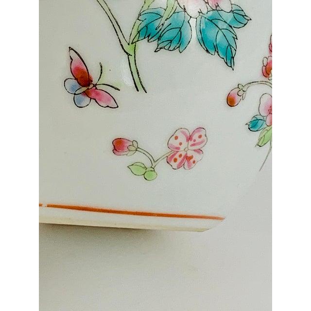 White Vintage Chinese Floral Ginger Jar For Sale - Image 8 of 11