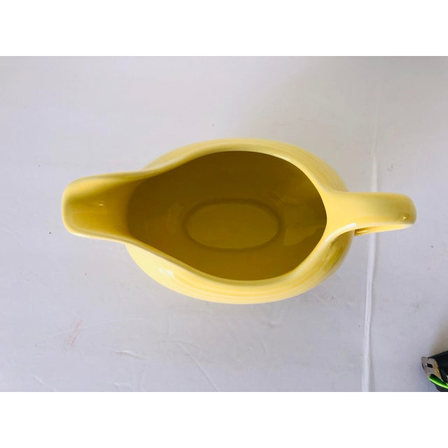 Vintage Fiesta Ware Yellow Gravy Boat Old Mark For Sale - Image 4 of 6
