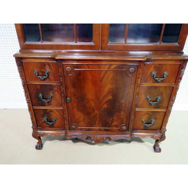 Mid 20th Century Georgian Style China Cabinet For Sale - Image 5 of 13
