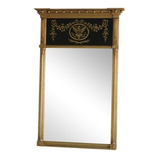 Friedman Brothers Vintage Sheraton Style Gold Mirror