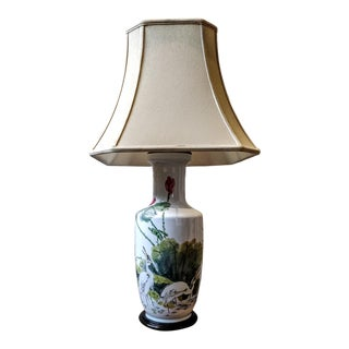 Vintage Chinese Vase Configured as a Lamp For Sale