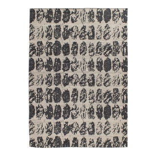 Solo Rugs Grit and Ground Collection Contemporary Euphoric Spheres Flatweave Hand-Knotted Flatweave Area Rug, Charcoal, 6' X 9' For Sale
