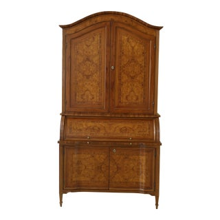 Italian Made Marquetry Inlaid Secretary Desk For Sale
