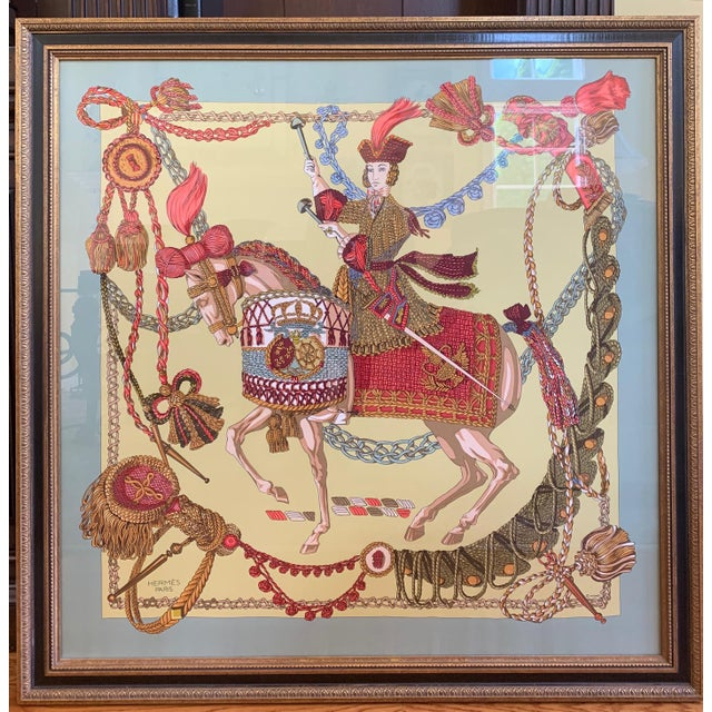 Professionally Framed Hermes 100% Silk Scarf For Sale In New York - Image 6 of 6