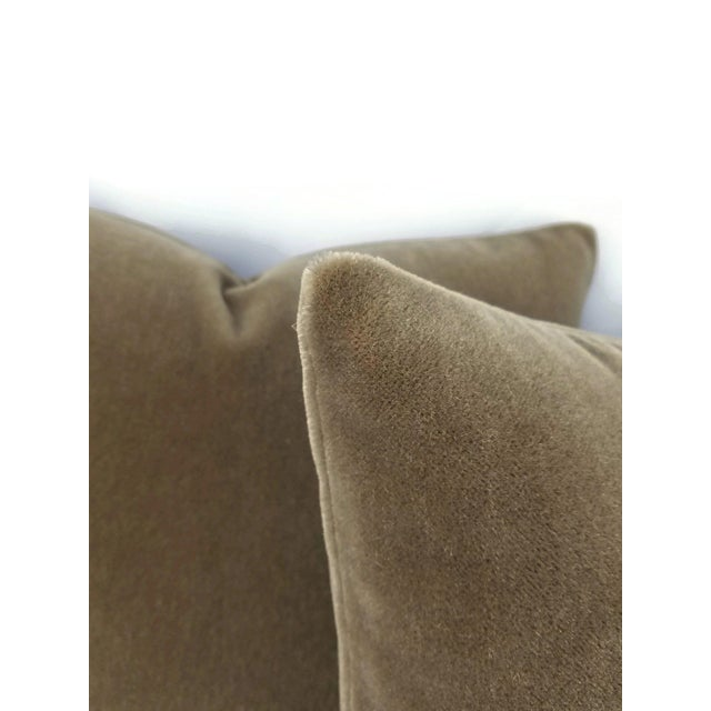 Contemporary S. Harris Melrose Mohair Velvet in Brown Pillow Cover For Sale - Image 3 of 5
