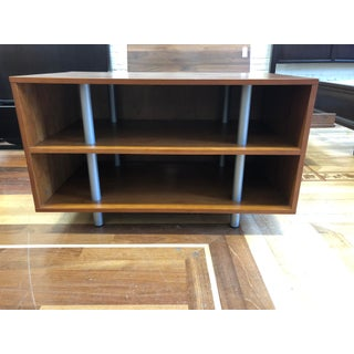 Contemporary Wood + Metal Media/Shelving Console Preview