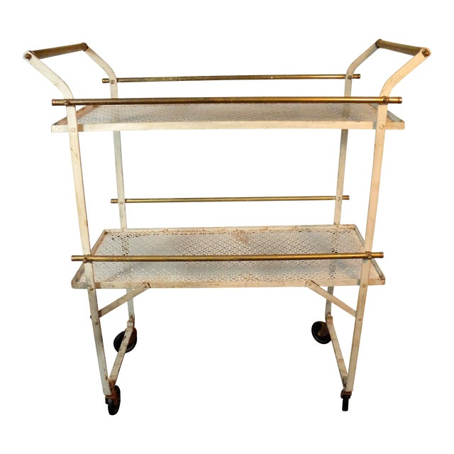Vintage Mid-Century Folding Bar Cart - Image 1 of 6