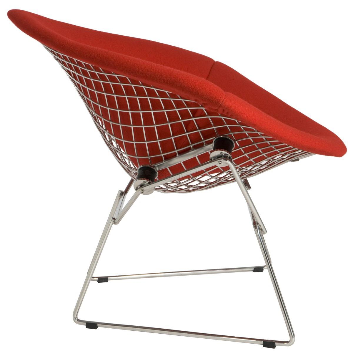 Melon Red Knoll Bertoia Chair Seat Cover