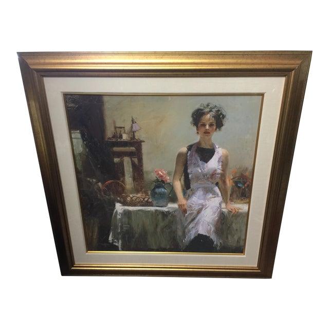 Pino Daeni Lithograph Kitchen Scene Signed Limited Edition For Sale