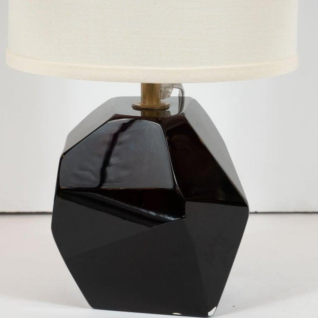 This stunning and elegant pair of table lamps were realized in Murano, Italy- the island off the coast of Venice renowned...