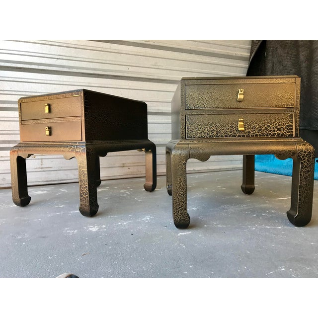 Asian Inspired End Tables by Lane Furniture - a Pair For Sale - Image 9 of 9