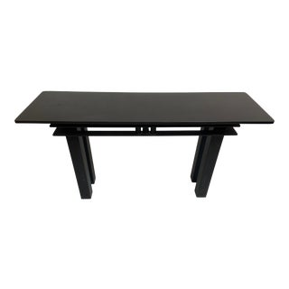 1970s Vintage Black Steel and Marble Console For Sale