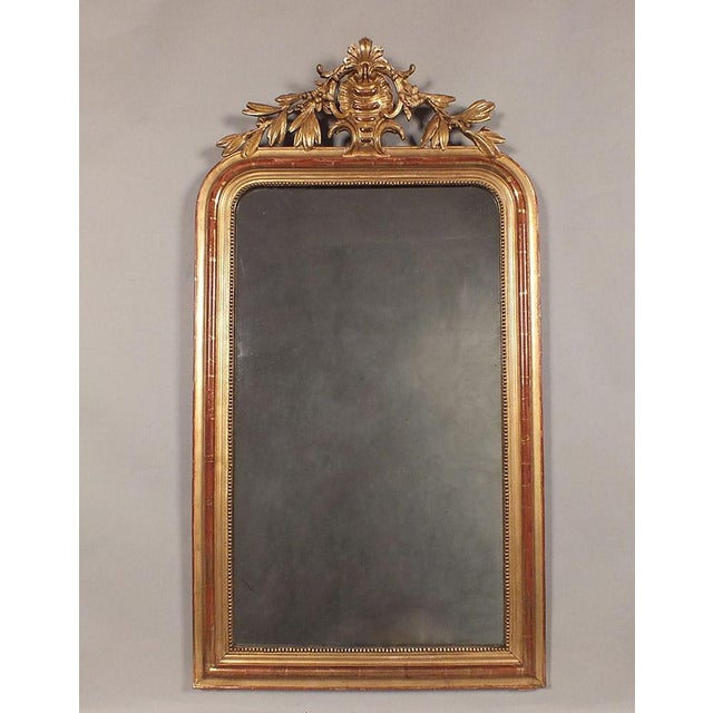 Antique French Louis XVI Giltwood Mirror - Image 2 of 10