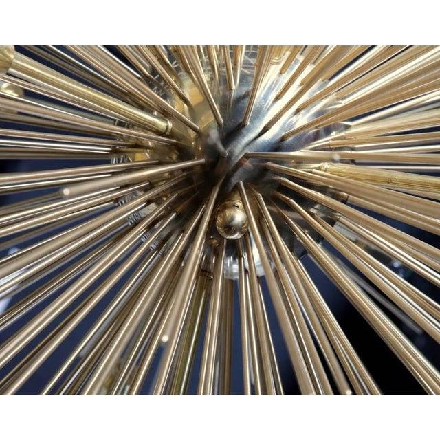 Mid-Century Modern Monumental Brass Sputnik or Urchin Chandelier For Sale - Image 3 of 6