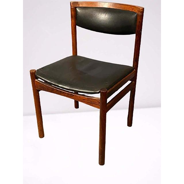 Wood Six Mid-Century Modern Danish Dining Chairs, Soro Stolefabrik Denmark, Rosewood For Sale - Image 7 of 13