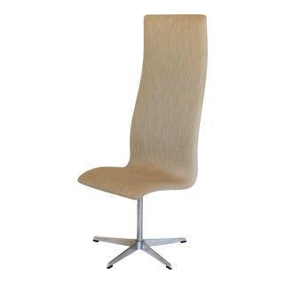 Oxford High Back Swivel Chair by Fritz Hansen For Sale