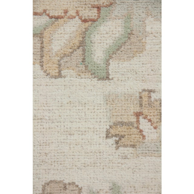 Traditional One-Of-A-Kind Traditional Oriental Silky Oushak Hand-Knotted Area Rug, Linen, 10' 1 X 13' 10 For Sale - Image 3 of 3
