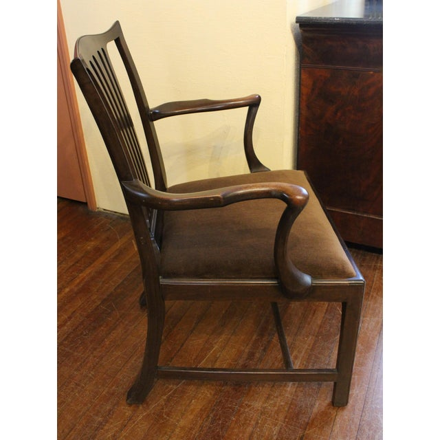Brown Dining Chippendale Style Chairs - Set of 8 For Sale - Image 8 of 10