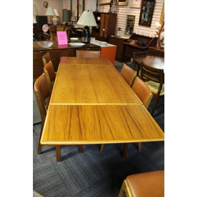 Mid-Century Danish Modern Teak Dining Table - Image 10 of 10
