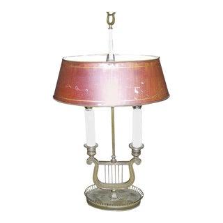 A Directoire Gilt Bronze Bouillotte Lamp For Sale
