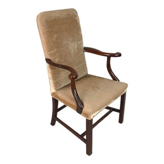 Mid 18th Century George III English Mahogany Armchair For Sale