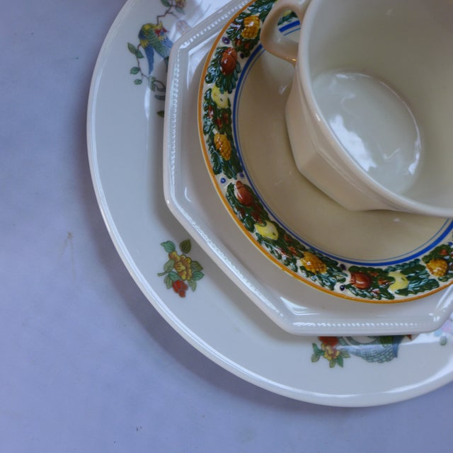 Vintage Mismatched Lunch Setting - 5 Pieces For Sale - Image 4 of 6