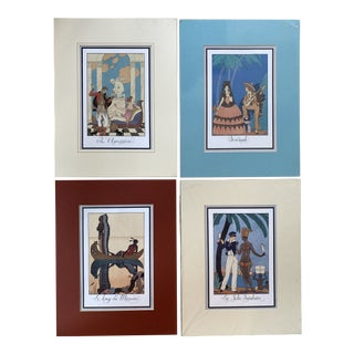 Art Deco French Book Illustrations by George Barbier - Set of 4 For Sale