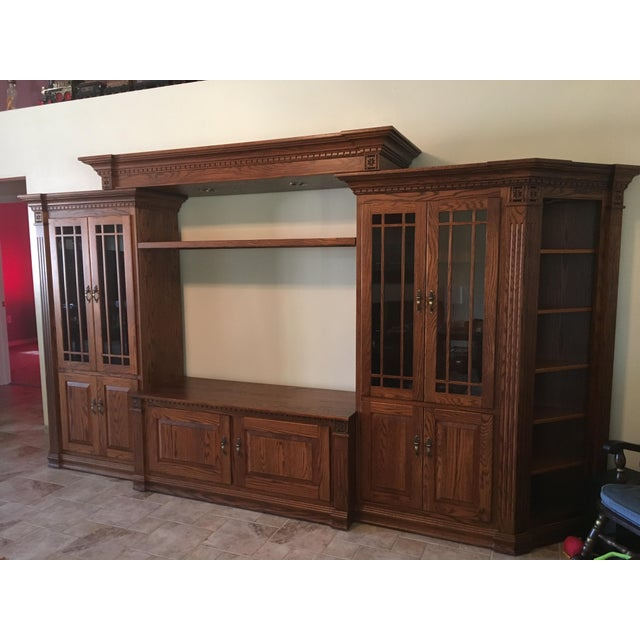 Amish Lighted 5-Piece Wall Unit - Image 2 of 11