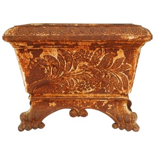 19th Century French Cast Iron Footed Planter