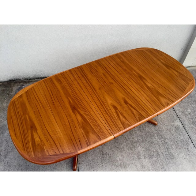 Mid-Century Expandable Teak Dining Table - Image 3 of 11