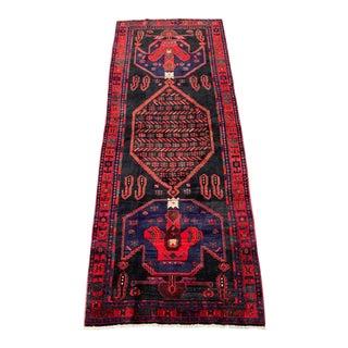 1960s Vintage Persian Bijar Runner Rug - 4′3″ × 11′4″ For Sale