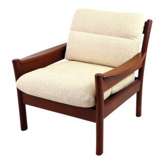 Dyrlund Lounge Teak Lounge Armchair, Denmark 1960s For Sale