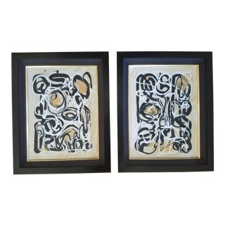 Modern Beth Downey Paintings - a Pair For Sale