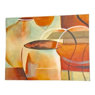 Large Southwestern Still Life Acrylic Canvas Painting - Signed Original For Sale