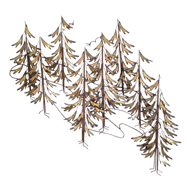 Curtis Jere Signed 1982 Alpine Trees Wall Sculpture - Image 1 of 11