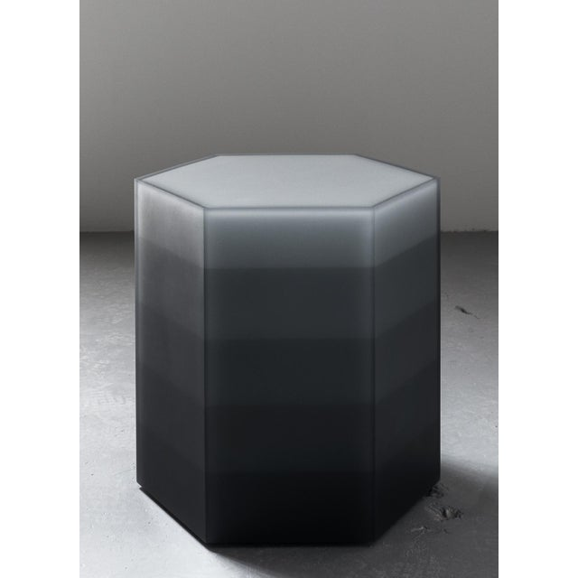 """""""Hex Stool, Gradient, Gray Resin"""", Resin, Wood, 2017, Facture Studio For Sale - Image 4 of 4"""