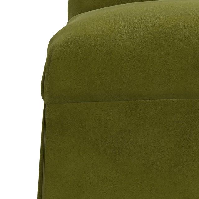 Not Yet Made - Made To Order Slipcover Dining Chair in Velvet Applegreen For Sale - Image 5 of 8