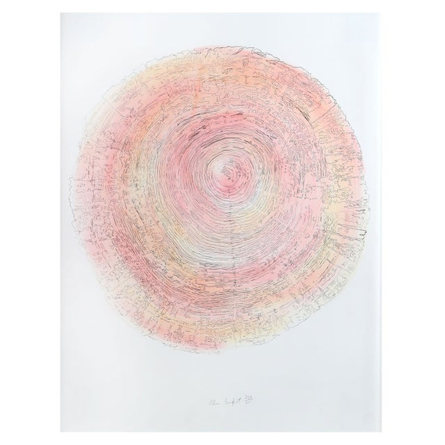 Alan Sonfist - Tree Trunk Series Pink 2 Litho For Sale