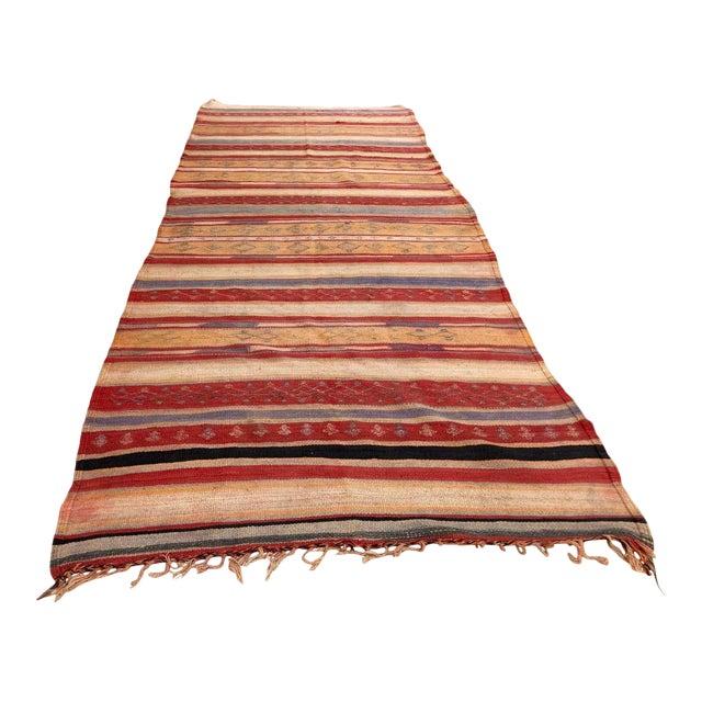 Vintage Moroccan Tribal Kilim Rug, circa 1960 For Sale